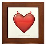 Devil Heart Framed Tile