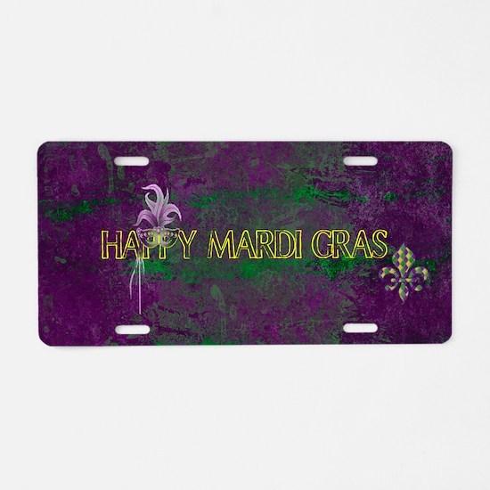 Funny Mardi gras Aluminum License Plate