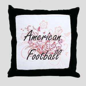 American Football Artistic Design wit Throw Pillow