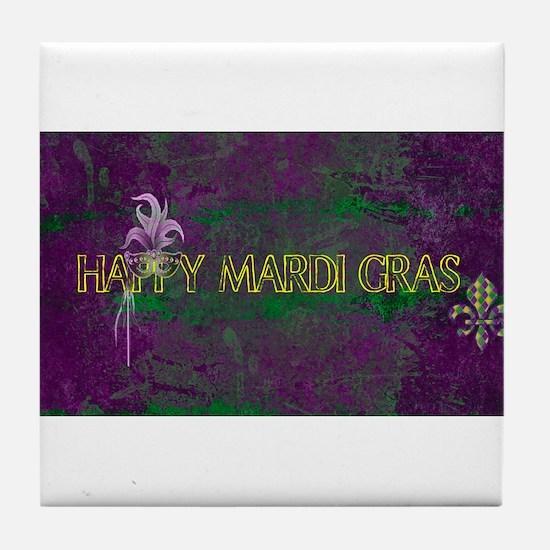Mardi Gras happy Mardi Gras Tile Coaster