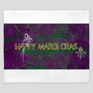 Mardi Gras happy Mardi Gras King Duvet