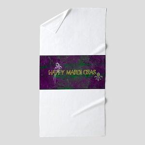 Mardi Gras happy Mardi Gras Beach Towel