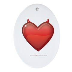 Devil Heart Oval Ornament