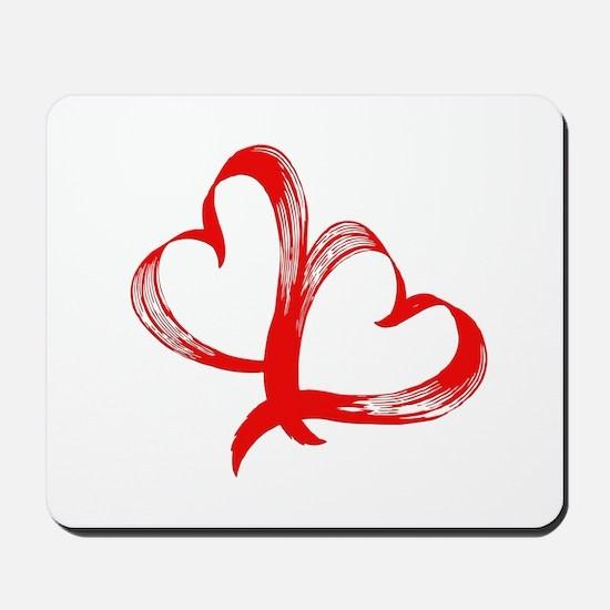 Double Heart Mousepad