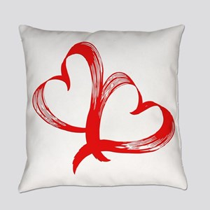 Double Heart Everyday Pillow