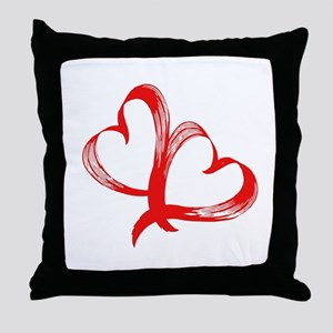 Double Heart Throw Pillow