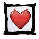 Devil Heart Throw Pillow