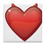 Devil Heart Tile Coaster