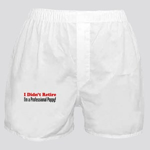 Didn't Retire Professional Poppy Boxer Shorts