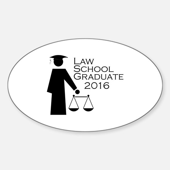 Cute Law school graduation Sticker (Oval)