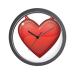 Devil Heart Wall Clock