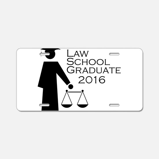 Cute Law school graduation Aluminum License Plate