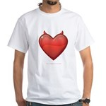 Devil Heart White T-Shirt