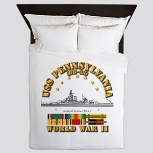 USS Pennsylvania (BB-38) Queen Duvet