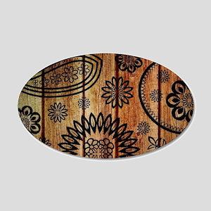 Ornate Wooden Planks Wall Sticker