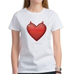 Devil Heart Women's Classic White T-Shirt