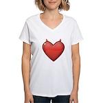 Devil Heart Women's V-Neck T-Shirt