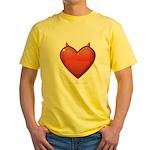 Devil Heart Yellow T-Shirt