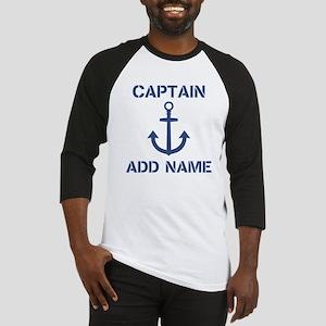 Custom Boat Captain Name Anchor Baseball Jersey