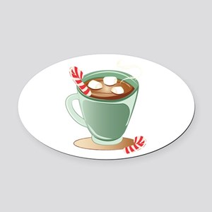 Hot Chocolate Oval Car Magnet