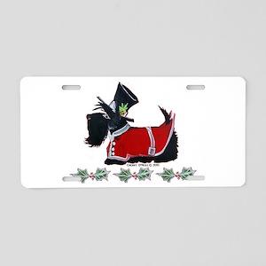 Scottie Christmas Aluminum License Plate
