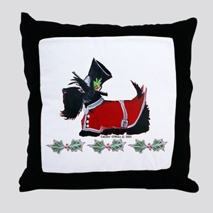 Scottie Christmas Throw Pillow
