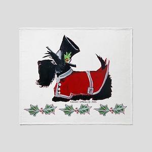 Scottie Christmas Throw Blanket