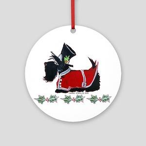 scottie christmas round ornament - Scottie Dog Christmas Decorations