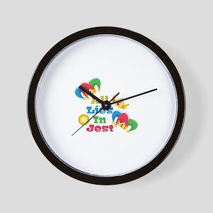 Lies In Jest Wall Clock