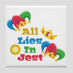 Lies In Jest Tile Coaster