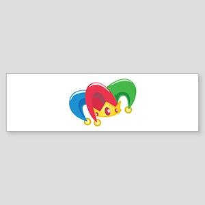 Jester Hat Bumper Sticker