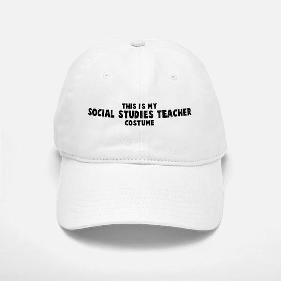 Social Studies Teacher costum Baseball Baseball Cap