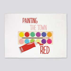 Paint Town Red 5'x7'Area Rug