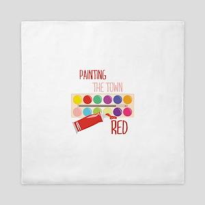 Paint Town Red Queen Duvet