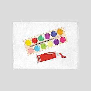 Watercolor Paints 5'x7'Area Rug