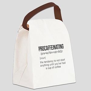 PROCAFFEINATING Canvas Lunch Bag