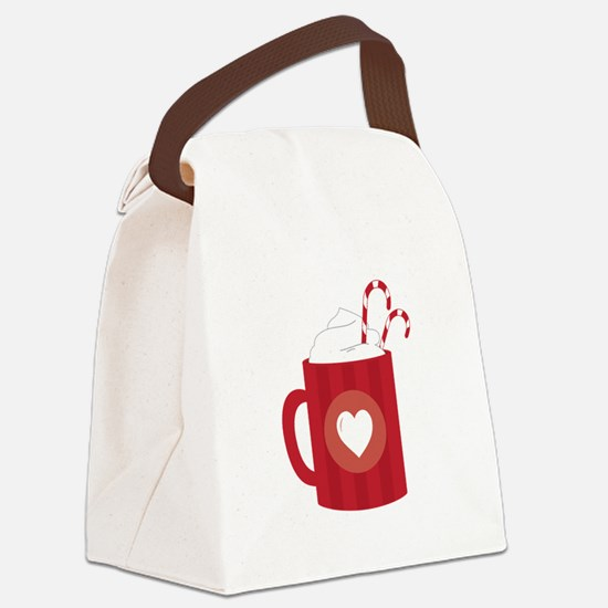 Hot Chocolate Canvas Lunch Bag