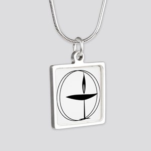 Uu Silver Square Necklace Necklaces