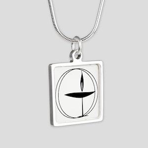 Uu Silver Square Necklace Necklaces