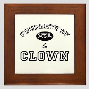 Property of a Clown Framed Tile