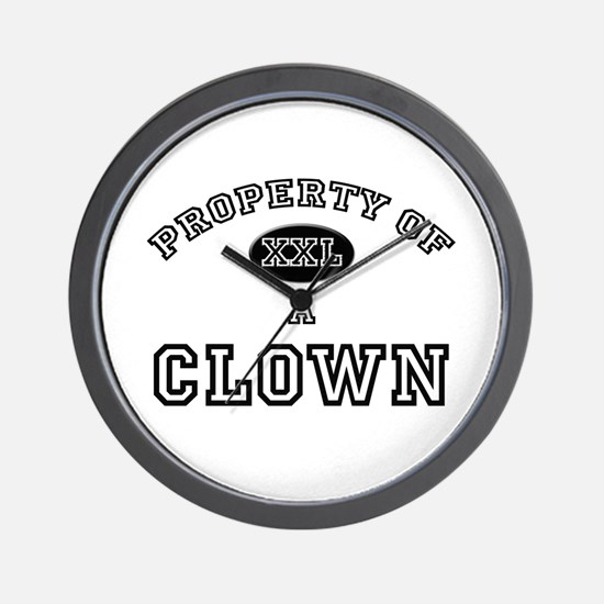 Property of a Clown Wall Clock