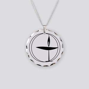 UU Necklace Circle Charm