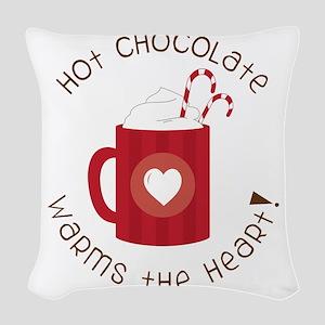 Warms The Heart Woven Throw Pillow