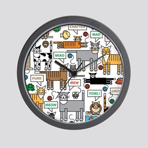 What Cats Say Wall Clock