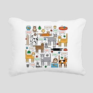 What Cats Say Rectangular Canvas Pillow