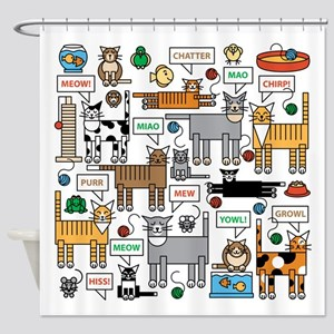 What Cats Say Shower Curtain