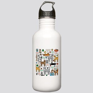 What Cats Say Water Bottle