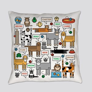 What Cats Say Everyday Pillow