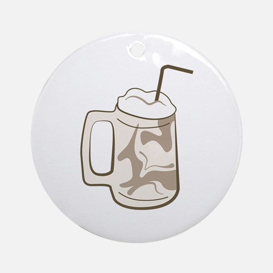 Root Beer Float Round Ornament