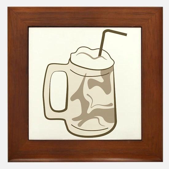 Root Beer Float Framed Tile